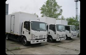 Изотермические фургоны на шасси ISUZU NPR75